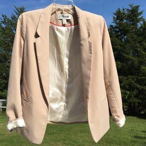 F21 Khaki Dress Blazer Jacket w/ Pockets Small
